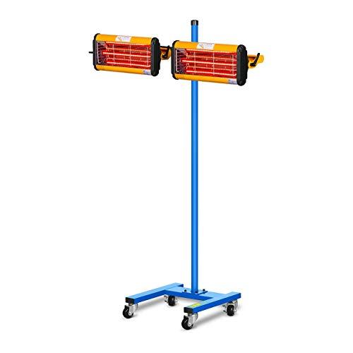MSW IR-DRYER2000.2 Secador de Pintura Infrarrojo para Carrocería Coche (2200 W, 2 Lámparas, 40–100 °C, Superficie de Secado 800 x 800 mm, Altura Máxima 213,5 cm, Temporizador 1–60 min)