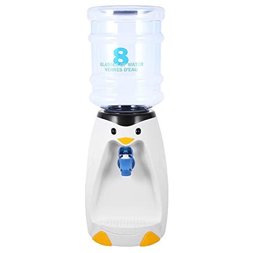 Angoily Mini Dispensador de Enfriador de Agua para Niños Dispensador de Agua Estilo Pingüino Encantador Dispensador de Agua Fuente de Beber Casa de Juego de Juguete de Simulación
