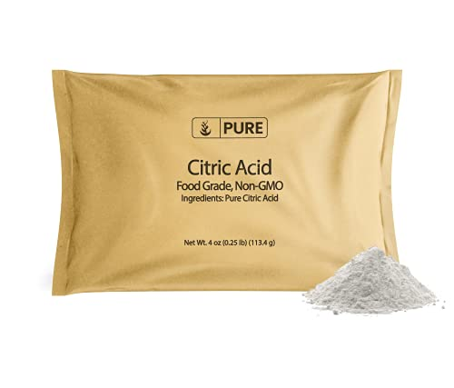 PURE Citric Acid (4 oz.), Eco-Friendly Packaging, All-Natural, Highest Quality, Pure, Food Safe, Non-GMO