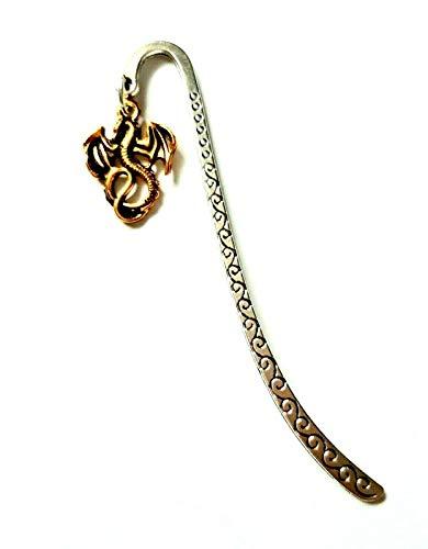 Segnalibro tibetano in argento con drago alato Game of Thrones, in sacchetto regalo