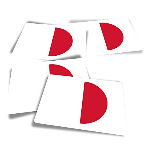 Vinyl Rectangle Stickers (Set of 4) - Malta Flag Fun Decals for Laptops,Tablets,Luggage,Scrap Booking,Fridges #9078
