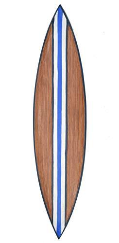 Interlifestyle Decoración Tabla de Surf 100cm de Madera con Rayas para Colgar
