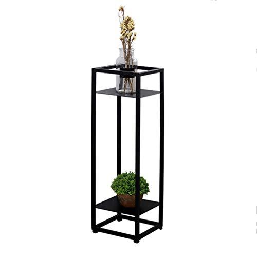 Min Iron Art Flower Stand golvstående stort utrymme grytställ inomhus och utomhus balkong vardagsrum multifunktionstång grön 20 x 20 x 70 cm, 25 x 25 x 80 cm, 30 x 30 x 90 cm planteringsbord
