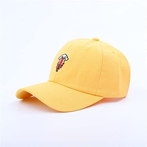 Yingyan Girl Baseball Cap Cute Cartoon Monster Pattern Hat Cotton Soft Top Boy Girl Caps (Color : Yellow, Size : One Size)