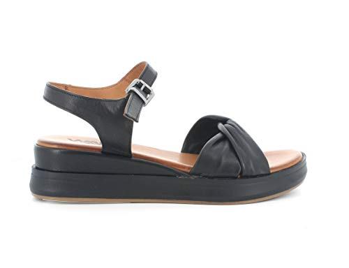 Melluso Sandalo Donna k55117 in Pelle Nero con Sottopiede in Memory Foam 36