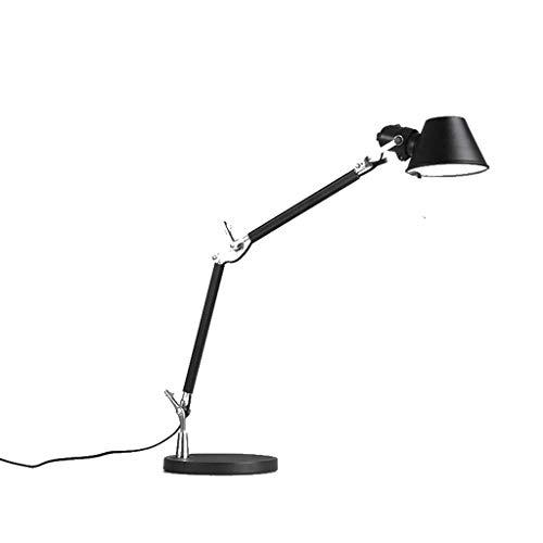 HTL Lámpara Led Lámpara de Cama Estudio de Oficina Lámpara de Trabajo Plegable Brazo Largo Eye Protección de Ojos Lámpara de Metal Doble Brazo Americano Lámpara de Mesa Lámparas de Escritorio para Do