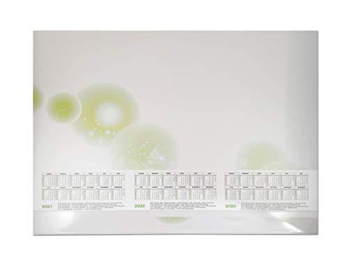 Schreibtischunterlage Papier mit Schutzleiste 3-Jahres-Kalender 2021, 2022 und 2023-25 Blatt 59,4 x 42 cm DIN A2