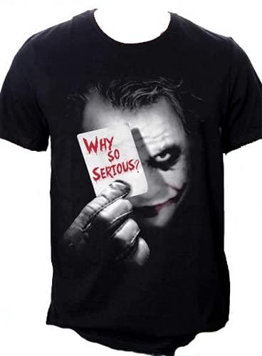 Batman Joker Why So Serious Camiseta, Negro, M para Hombre