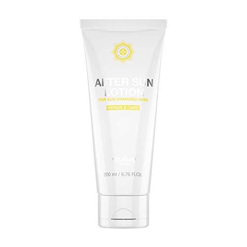 Vitabay After Sun Lotion 200 ml • Pflege nach dem Sonnenbad mit beruhigender Aloe Vera, Panthenol, Mandelöl, Q10 und Hyaluron • Feuchtigkeitsspendend