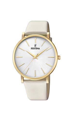 Festina Damen Analog Quarz Uhr mit Leder Armband F20372/1