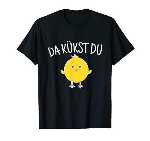 Da Kükst Du I Divertente Pasqua Uova di Pasqua per bambini Pollo, pulcino Maglietta