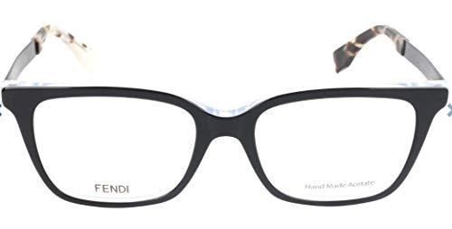 Fendi Brillengestelle FF 0077 Rechteckig Brillengestelle 50, Schwarz
