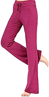 BEESCLOVER Pro Women Yoga Long Pants Sport Fitness Gym Running Loose Trousers Red L