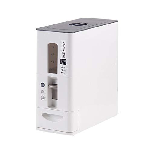 Seau de Riz Boîte de Riz antiparasitaire Domestique Boîte de Riz de Stockage résistant à l'humidité Cylindre de Riz Boîtes Alimentaires (Color : Blanc, Size : 38.5 * 15.5 * 34.7cm)