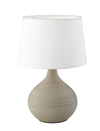 Reality Leuchten r50371025Martin, lampada da tavolo, Ceramica, E14, Cappuccino, 20x 20x 29cm, cappuccino, 20 x 20 x 29 cm, E14
