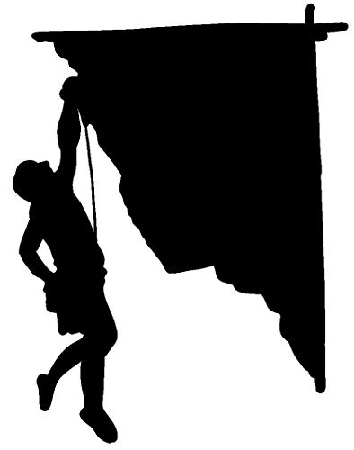 hBARSCI Rock Climbing Vinyl Decal - 5 Inches - for Cars, Trucks,...