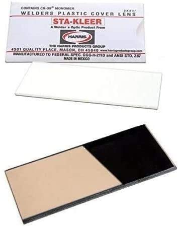 """10 Clear Hood Lens Cover 2"""" x 4.25"""" and 1 GLASS GOLD Shade 12 Welding Hood Lens Helmet Filter 2 x 4-1/4 Replacement"""