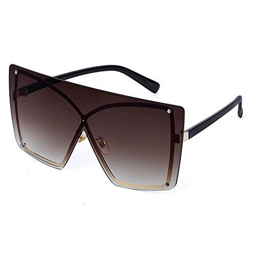 Sonnenbrille Sunglasses Quadratische Übergroße Sonnenbrille Frauen Sonnenbrille Vintage Randlose Retro Sonnenbrille Männer Brillenrahmen Mode Gv0300-5