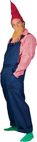 Karneval-Klamotten Zwergen Kostüm Herren Zwerg Kostüm Herren-Kostüm mit Zwergen-Mütze Garten-Zwerg Zwerg-Latzhose blau