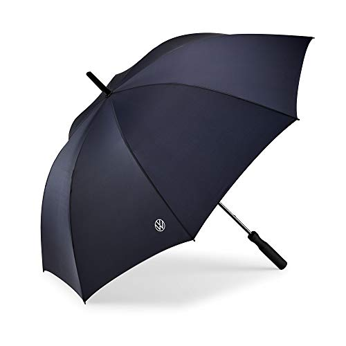 Volkswagen 000087602Q Regenschirm Stockschirm, blau, mit neuem VW Logo