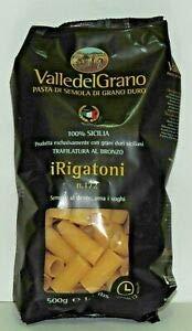 Pasta Valle del Grano Rigatoni di semola di Grani duri Siciliani trafilata al bronzo 500 g By Nelson Sicily