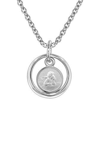 trendor Halskette Taufring mit Engel Silber 925 zauberhafter Taufschmuck für Mädchen, Jungen oder Mütter aus Sterling-Silber, Geschenkidee zur Taufe, 73259