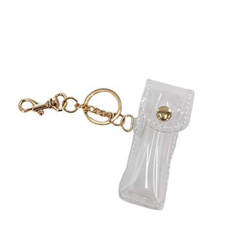 LUOEM kapstok houder transparant sleutelhanger lippenstift houder sleutelhanger lip balsem Holster voor vrouwen meisjes tas hanger reisaccessoires