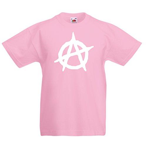 lepni.me Camiseta para Niño/Niña Símbolo anarquista, diseño político anarquista, Monograma anarquista