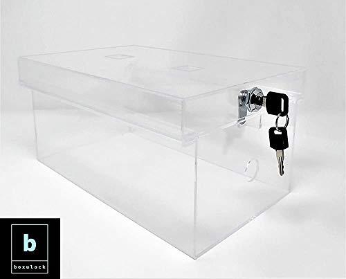 Panelk Mehrzweck-Aufbewahrungsbox für Lebensmittel, Medizin, Schuhe, Handys, Tablets und Spielkonsolen inkl. 2 Schlüssel farblos