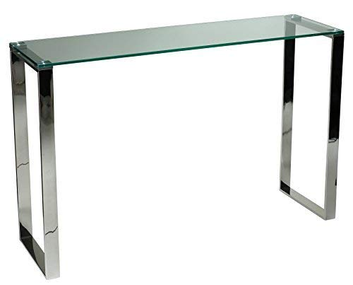 Cortesi Home Remi Contemporary Glass Console Table