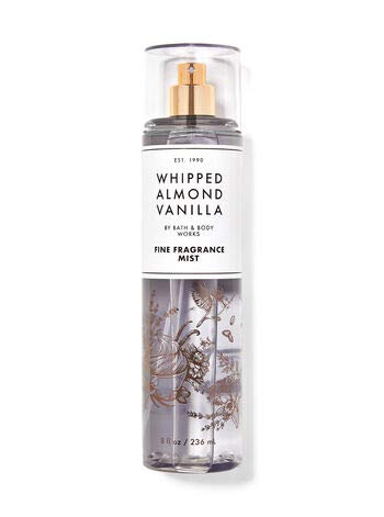 Bath and Body Works Whipped Almond Vanilla Fine Fragrance Mist 8 Ounce Full Size Spray