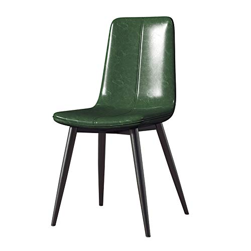 ZTCWS Modern dining & vrijetijdsstoel, metalen poten PU-kussen zitting en rugleuning voor horeca woon- en wachtkamerstoelen