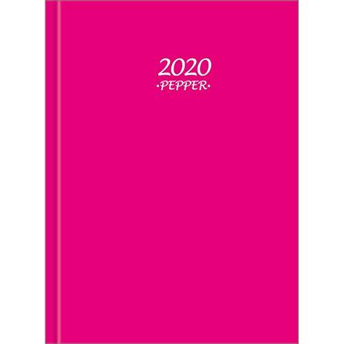 Tilibra 291081 Agenda 2020 - Vista diaria - 11 x 16 cm - colección Pepper cosido, pack of/paquete de 1