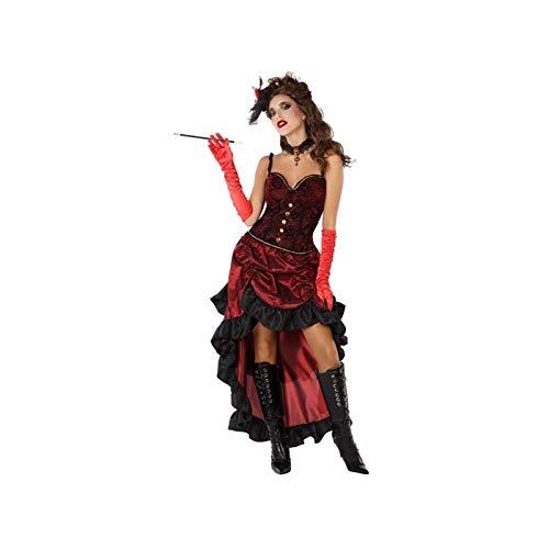 Atosa-61412 Atosa-61412-Disfraz Cabaret-Adulto Mujer, Color rojo, M a L (61412 , color/modelo surtido