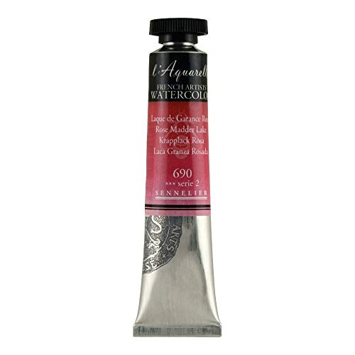 Sennelier L'Aquarelle French Watercolor, 21ml Tube, S2 Rose Madder Lake