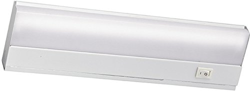 Kichler 10041WH Direct Wire Under Cabinet, 1 Light Fluorescent 8 Watts, White