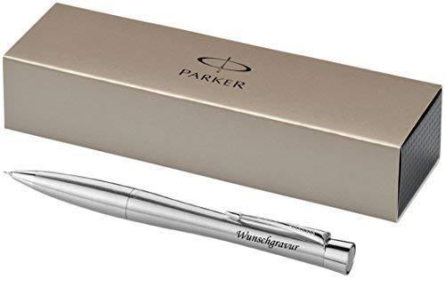 Exklusiver PARKER Kugelschreiber Modell URBAN silber inkl. Gravur Lasergravur graviert neu