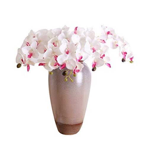 Dooxii Phalaenopsis Falsa Planta Flores Artificiales Decoración para Hogar Fiesta de Boda de Jardín