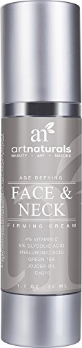 ArtNaturals Face & Neck Firming Cream - Anti Aging Moisturizer for Neck & Décolleté - For Tightening & Lifting Sagging Skin - Antiwrinkle, Reduces Fine Lines w/Vitamin C & Hylauronic Acid - 1.7 Fl