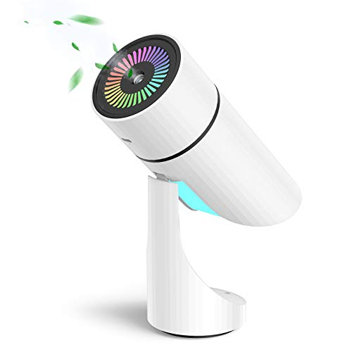 Umidificatore, NTHJOYS è Adatto Per Camera da Letto Bambino Donna Incinta Ufficio Umidificazione Silenziosa a Prova Di Umidità Senza Nebbia (Ricaricabile USB) Con Luce Notturna(Bianca)