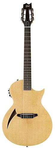 ESP LTD TL-6N Thinline Acoustic Electric Nylon String Guitar, Natural
