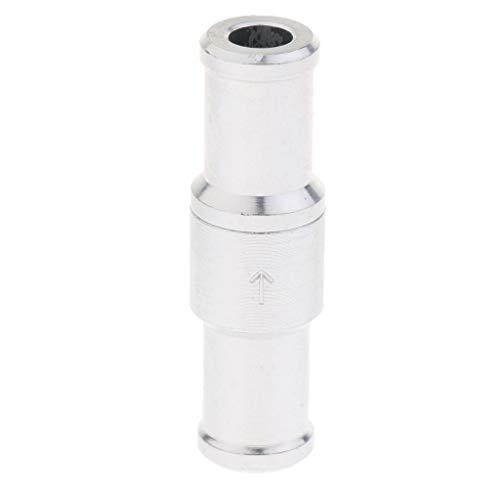 Preisvergleich Produktbild Rückschlagventil Rückflußverhinderer Ventil Benzil Diesel Wasser Rückschlagklappe aus Aluminiumlegierung - Silber 12mm