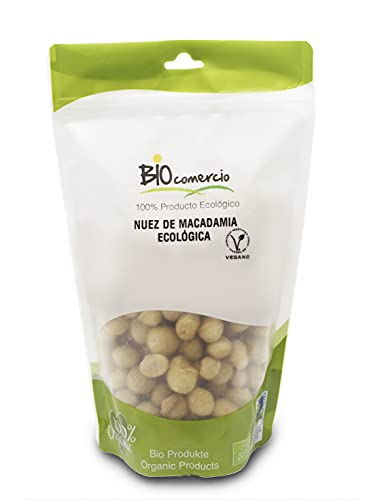 BIOCOMERCIO | Nueces de macadamia ecológicas | nuez de macadamia orgánica | 500 gramos | Nueces enteras | Frutos secos | Producto ecológico y orgánico | BIO