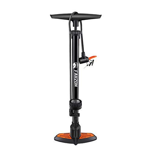 Bike Pump Bicycle Floor Pump with Pressure Gauge Bike Tire Bicycle Air Pump for 160 psi High...
