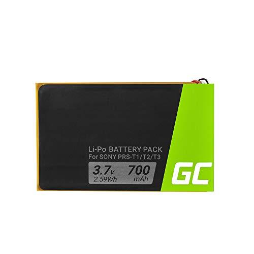 Batería eficiente 1-853-104-11 LIS1476 Green Cell ® Marca para E-Book Sony Portable Reader System PRS-T1 PRS-T2 PRS-T3 PRS-T3E PRS-T3S, (Li-Pol 700mAh 3.7V) garantía de un año, confiabilidad