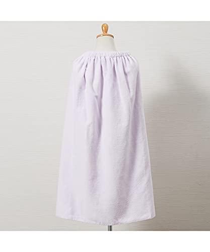 [nissen(ニッセン)] 綿100% シャーリングカラー 80cm丈ラップタオル パープル 80cm丈 マタニティ