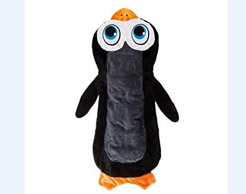 EASYmaxx 03464 Kuscheldecke Pinguin | Zum Spielen, Kuscheln & Schlafen | Decke und Schlafsack | Maschinenwaschbar, schwarz
