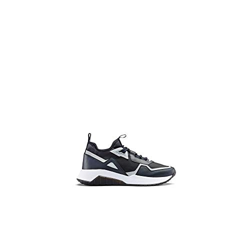 BOSS Hugo Atom_Runn - Calzado de Entrenamiento (Nailon), Color Azul Marino, Color Azul, Talla 45 EU