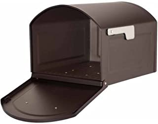 Architectural Mailboxes Centennial Large Capacity Post Mount Mailbox, Black (Rubbed Bronze)
