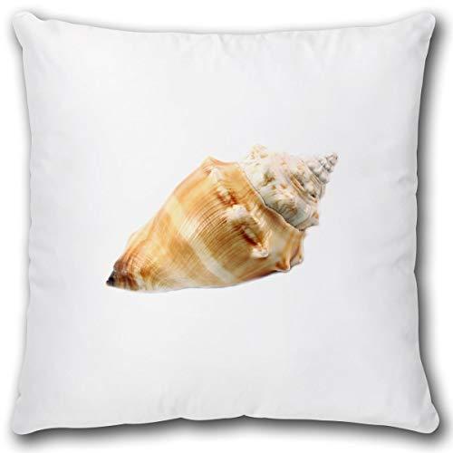 TRIOSK kussen maritiem sierkussen met motief zee schelp cadeau voor vrouwen vriendin sofakussen sierkussen overtrek incl. vulling 40x40 cm